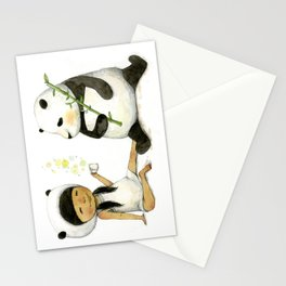 Tea Time with Panda  Stationery Cards