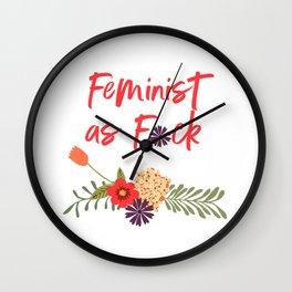 Feminist as F*ck (Censored Version) Wall Clock