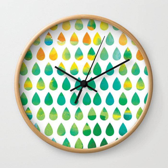 Monsoon Rain Wall Clock