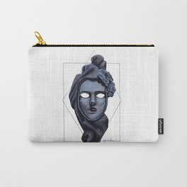 Female Venetian Mask | Watercolor and Colored Pencil  Carry-All Pouch