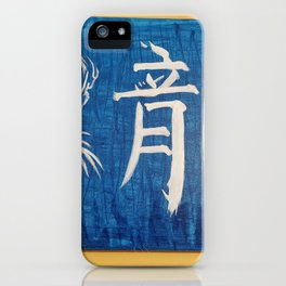 Blue Dragon kanji iPhone Case