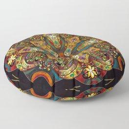 Mandala Sacred Rams - Dark Version Floor Pillow