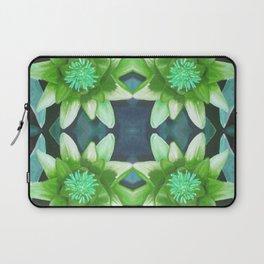 Teal Green Bromeliad Pattern Laptop Sleeve