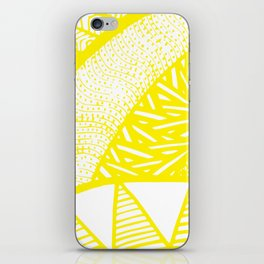 Free Hand Zesty Lemon Doodle Design iPhone Skin