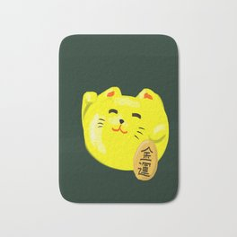 Neko Cat Yellow Bath Mat