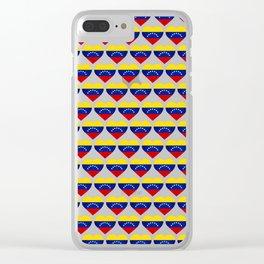 Venezuelan heart - Corazon Venezolano Clear iPhone Case