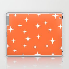 Mid Century Modern Star Pattern 443 Orange Laptop & iPad Skin