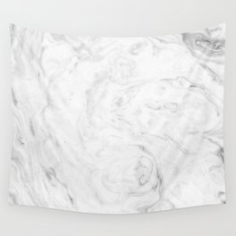 Light grey marble Wall Tapestry