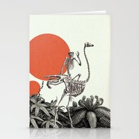 death Stationery Cards featuring Death by Dorian Danielsen