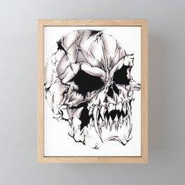Vampire Skull Framed Mini Art Print