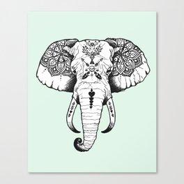 Elephant Tattooed Canvas Print