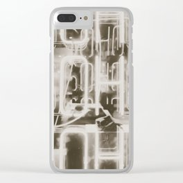 Neon Soho Sign Illuminated in London Clear iPhone Case