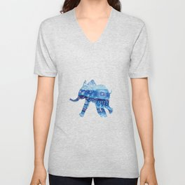 cute baby elephant mandala art Unisex V-Neck
