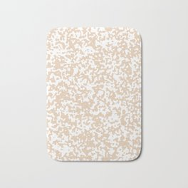 Small Spots - White and Pastel Brown Bath Mat