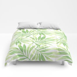 Tropical Branches Pattern 10 Comforters