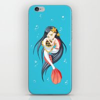 little mermaid iPhone & iPod Skins featuring Mermaid by Freeminds