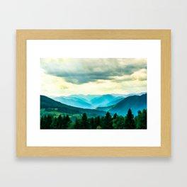 Clouded Beauty Framed Art Print