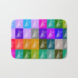 Rainbow Hummingbirds Bath Mat
