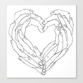 Finger Heart Canvas Print