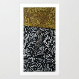 Cor Cor Cormorant Art Print