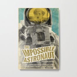 "Doctor Who ""The Impossible Astronaut"" Retro Movie Poster Metal Print"