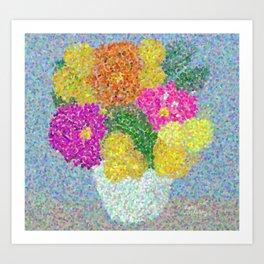 Zinnia Bouquet Art Print