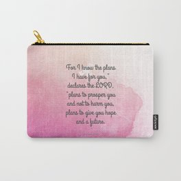 Jeremiah 29:11, Encouraging Bible Verse Carry-All Pouch