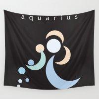 aquarius Wall Tapestries featuring Aquarius by L'Épouvantail