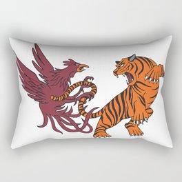 Cocks vs Tigers Rectangular Pillow