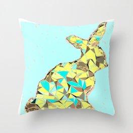 Spring bunny Throw Pillow