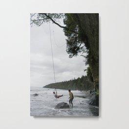 Swinging over the ocean Metal Print