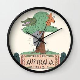 Wild Australia Wall Clock