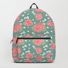 Sweet Carnation Flower Seamless Pattern Backpack