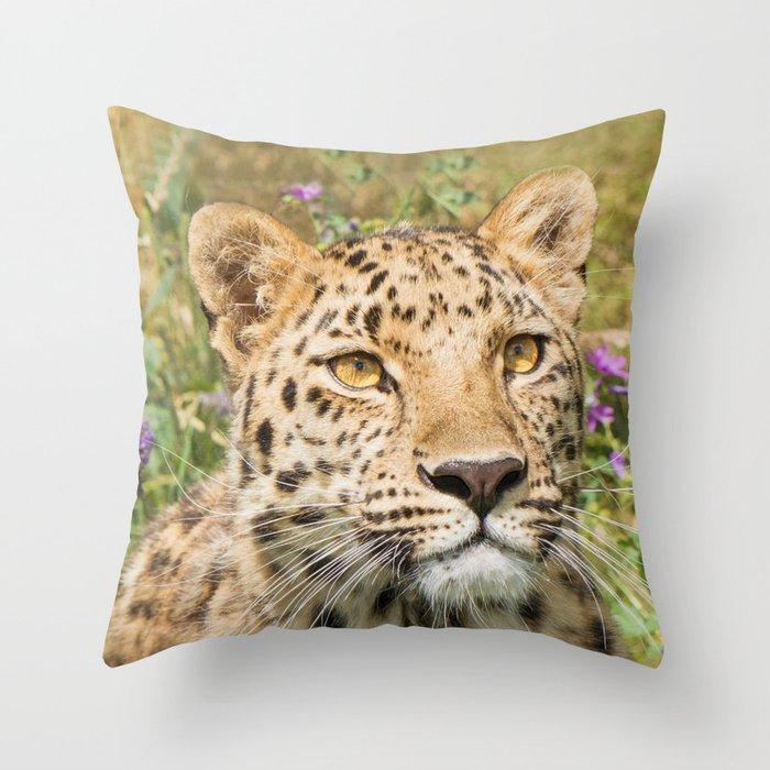 LEOPARD LOVE Throw Pillow