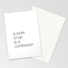 work of art Stationery Cards