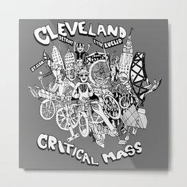 Cleveland Critical Mass Poster Metal Print