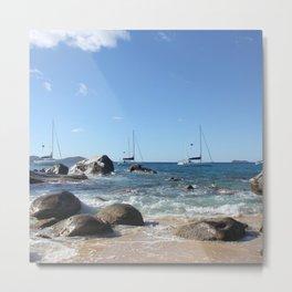 Sailing Boats at the Baths, BVI Metal Print