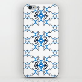 Shears on white iPhone Skin