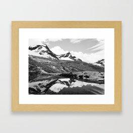 Snowy Mountain Reflection Framed Art Print