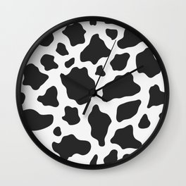 Black and White Cow Print Wall Clock