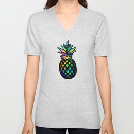 Iridescent pineapples Unisex V-Neck