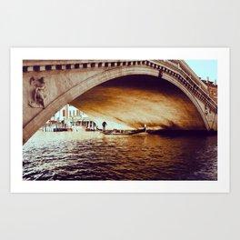 Rialto Bridge, Venice Italy Art Print