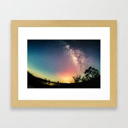 Gazing into the Unknown Framed Art Print