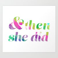 and then she did Art Print