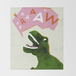 Dinosaur Raw! Throw Blanket