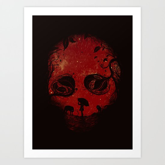 Red Encounter Art Print