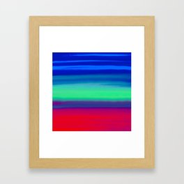 Rocket Blue Framed Art Print