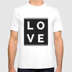 LOVE MEDIUM Mens Fitted Tee White