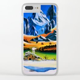A sharp snowy mountain ... A sacred wind blows. Clear iPhone Case