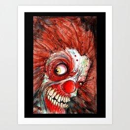 zombie clown Art Print
